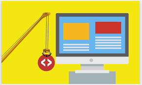 illustration création site internet code htlm css